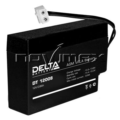 Изображение Аккумулятор 12В 0.8А/ч (DT 12008)