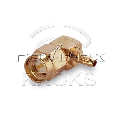 Изображение Разъем SMA (male) - RG174, RG316 угловой обжимной