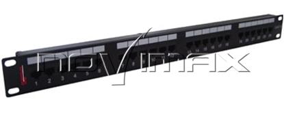 """Изображение Патч-панель 19"""" (1U) 24 порта, cat.5e, Dual Type """"F"""""""