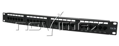 """Изображение Патч-панель 19"""" (1U) 24 порта, cat.5e, 110 Type """"L"""""""