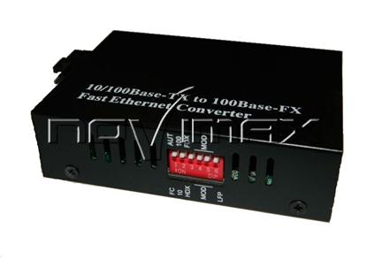Изображение WDM медиаконвертер 10/100Base-TX/100Base-FX, 1550nm, с dip переключателем