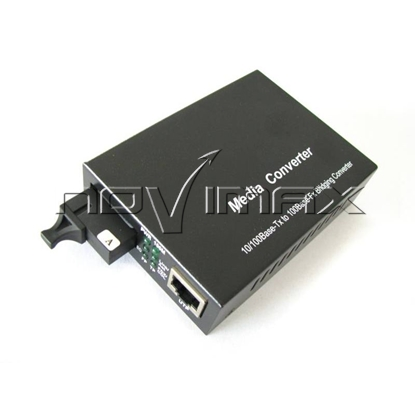 Изображение WDM медиаконвертер 10/100Base-TX/100Base-FX, 1310nm, с dip переключателем