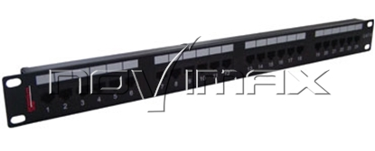 """Изображение Патч-панель 19"""" (1U) 24 порта, cat.6e, Dual Type """"F"""""""