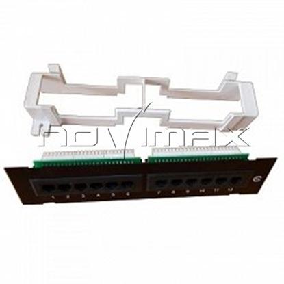"""Изображение Патч-панель MINI 10"""" (1U) 12 портов, cat.5e, Dual Type """"L"""""""