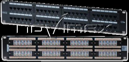 """Изображение Патч-панель 19"""" (2U) 48 портов, cat.6e, Dual Type """"J"""""""