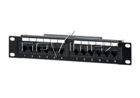 """Изображение Патч-панель 10"""" (1U) 12 портов, cat.5e, Dual Type, """"J"""""""