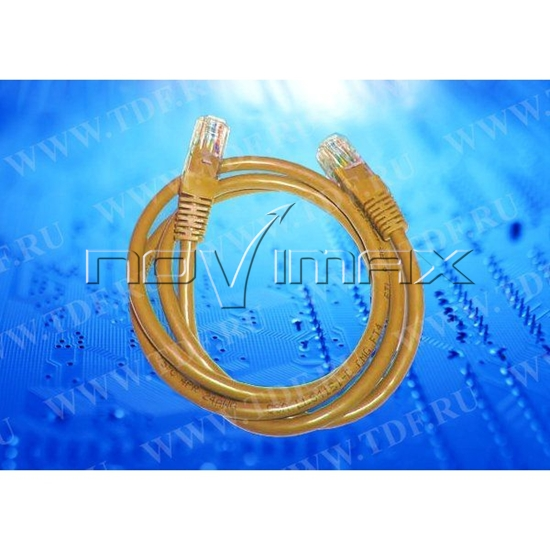 Изображение Патч-корд Netko СКС UTP4 cat.5e, 0.5м, литой коннектор, LSZH, оранжевый