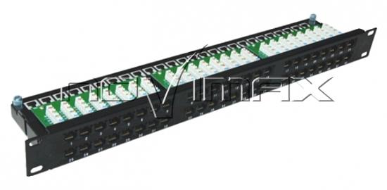 """Изображение Патч-панель 19"""" (1U) 48 портов, cat.6e, Dual Type"""