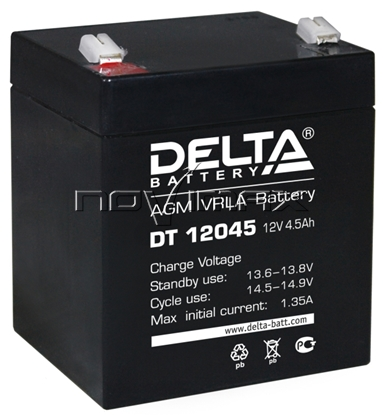 Изображение Аккумулятор 12В 4.5А/ч (DT 12045)