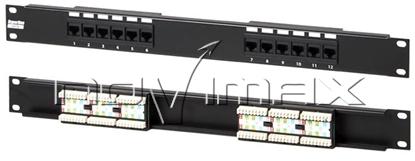 """Изображение Патч-панель 19"""" (1U) 16 портов, cat.5e, 1U, Dual Type """"J"""""""