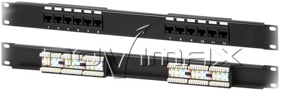 """Изображение Патч-панель 19"""" (1U) 12 портов, cat.5e, 110 Type """"L"""""""